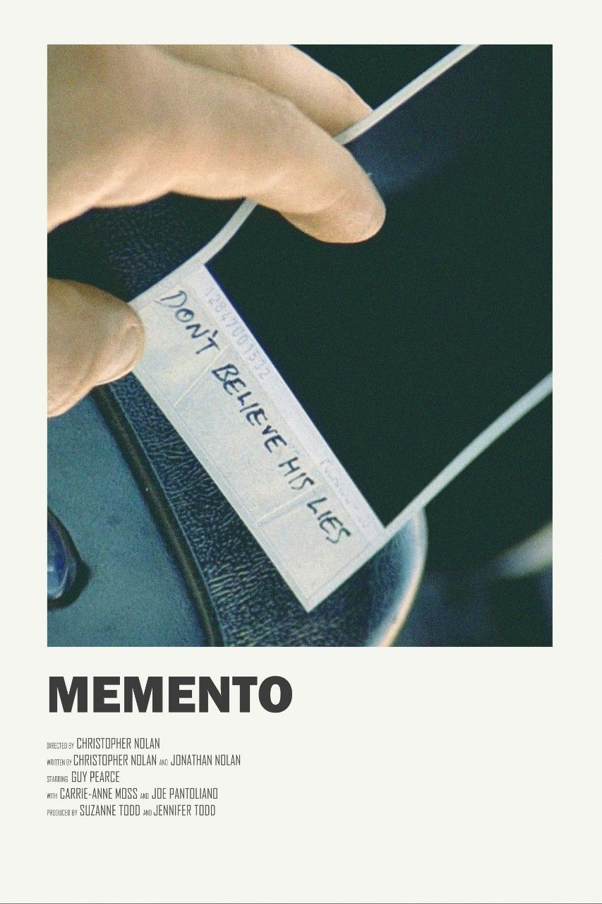 Memento alternative movie poster visit my store movie