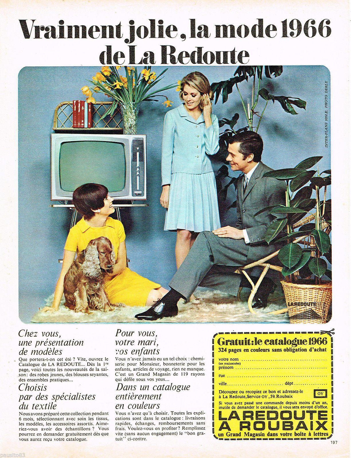 publicite advertising 075 1966 la redoute à roubaix commande mode