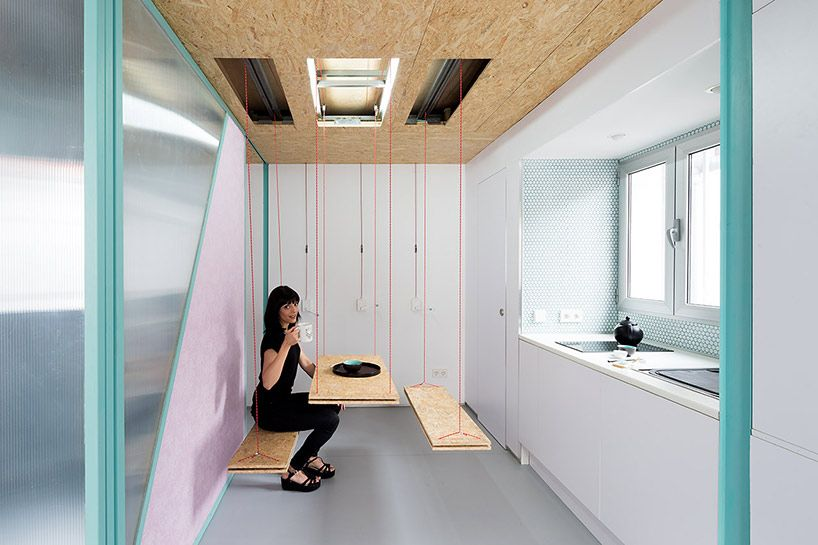 Small Attic Apartment Conceals Rooms Within It's Walls