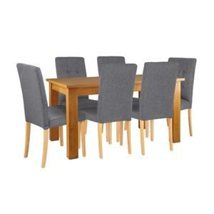 Adaline Oak Extendable Table and 6 Chairs | Chair, Dining ...