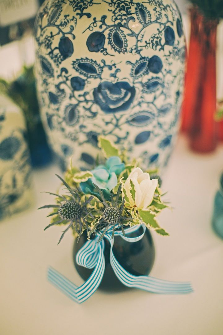 Pantone's Lapis Blue | Wedding Centerpieces ideas | fabmood.com #wedding #pantone2017 #lapisblue