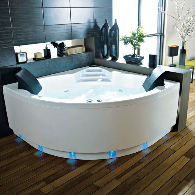 Baignoire Balneo Lumino Avec Tablier 140 X 140 Cm Castorama