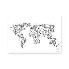 Geometric world map compass tattoo tattoo and tatoo geometric world map gumiabroncs Gallery