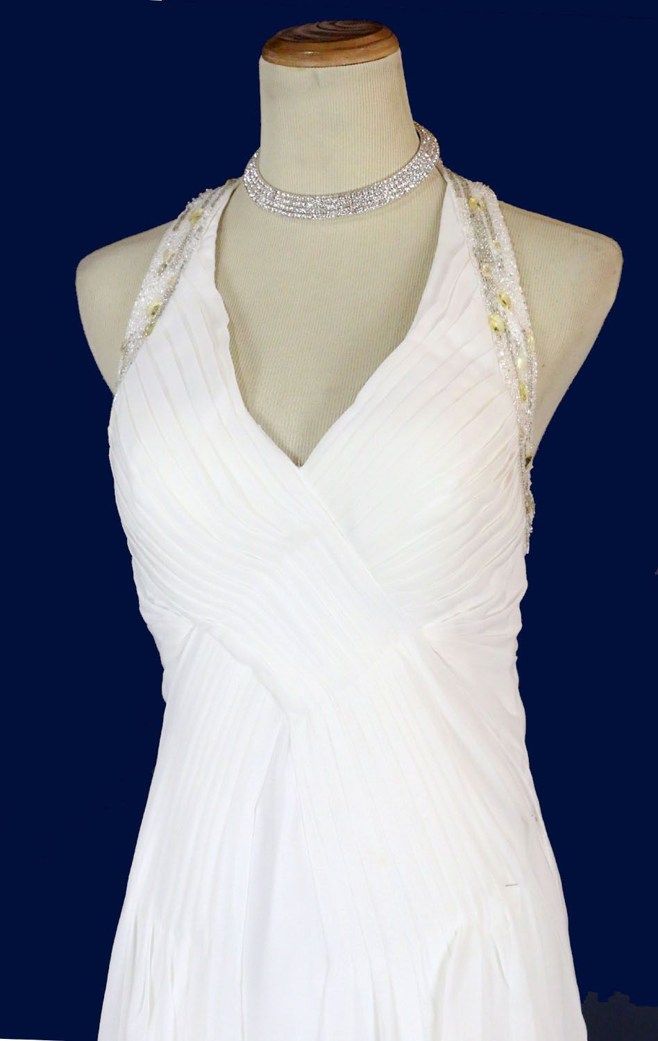Nice awesome new morrell maxie offwhite evening wedding dress