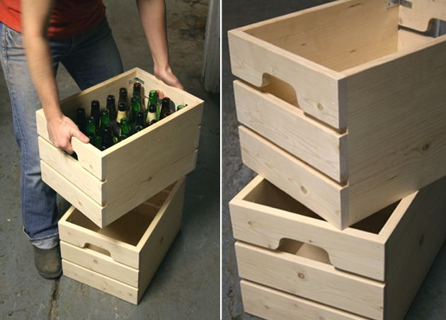 Cenzo design pittsburgh modern furniture wood beer crate storage functional art Wooden crates furniture