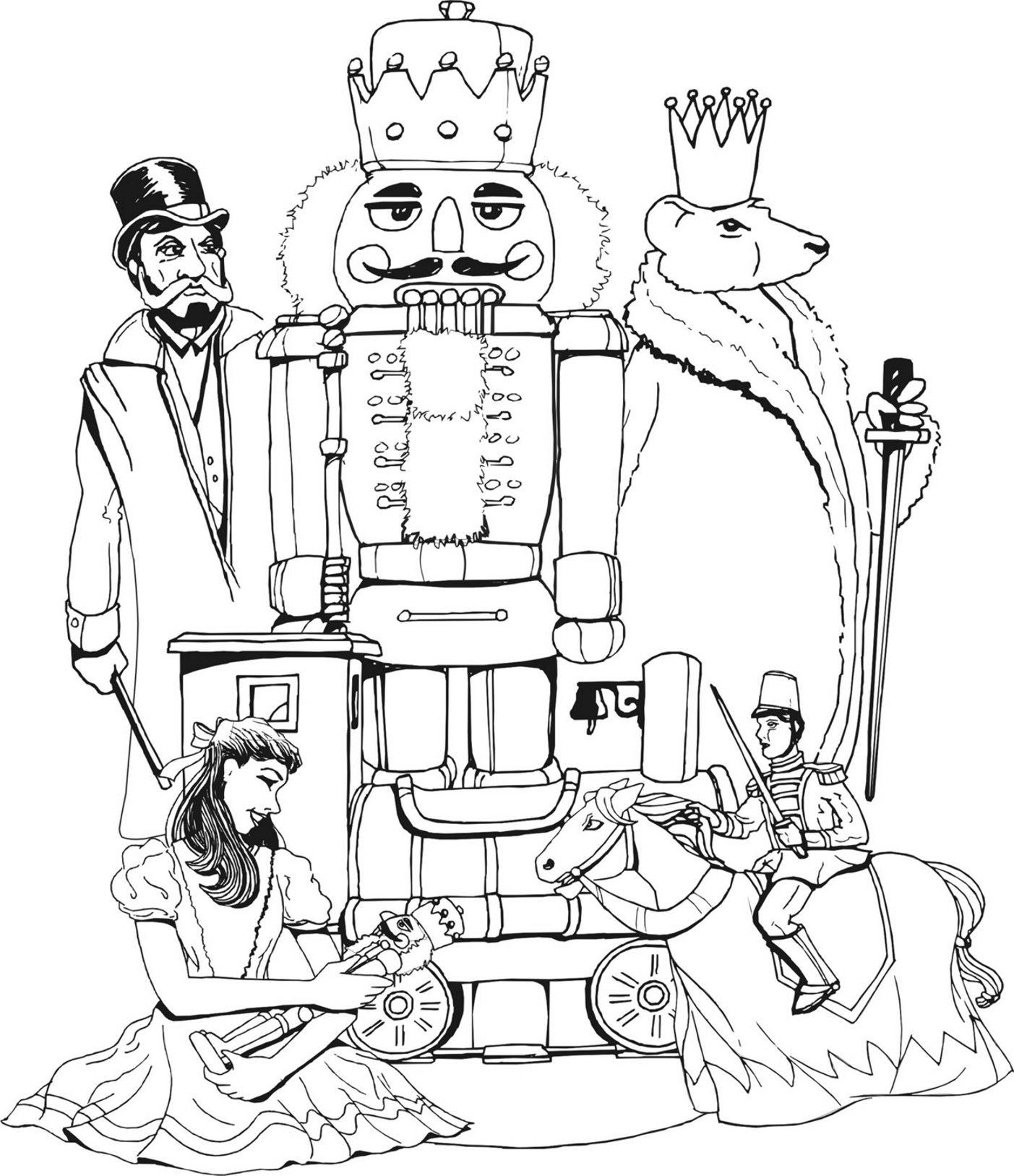 Coloring page to do while listening to nutcracker