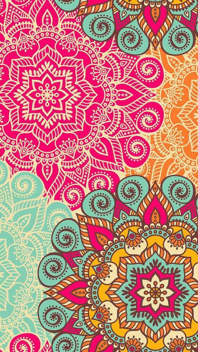 Cool Colorful Mandala Pattern Mandala Wallpaper Mandala Prints