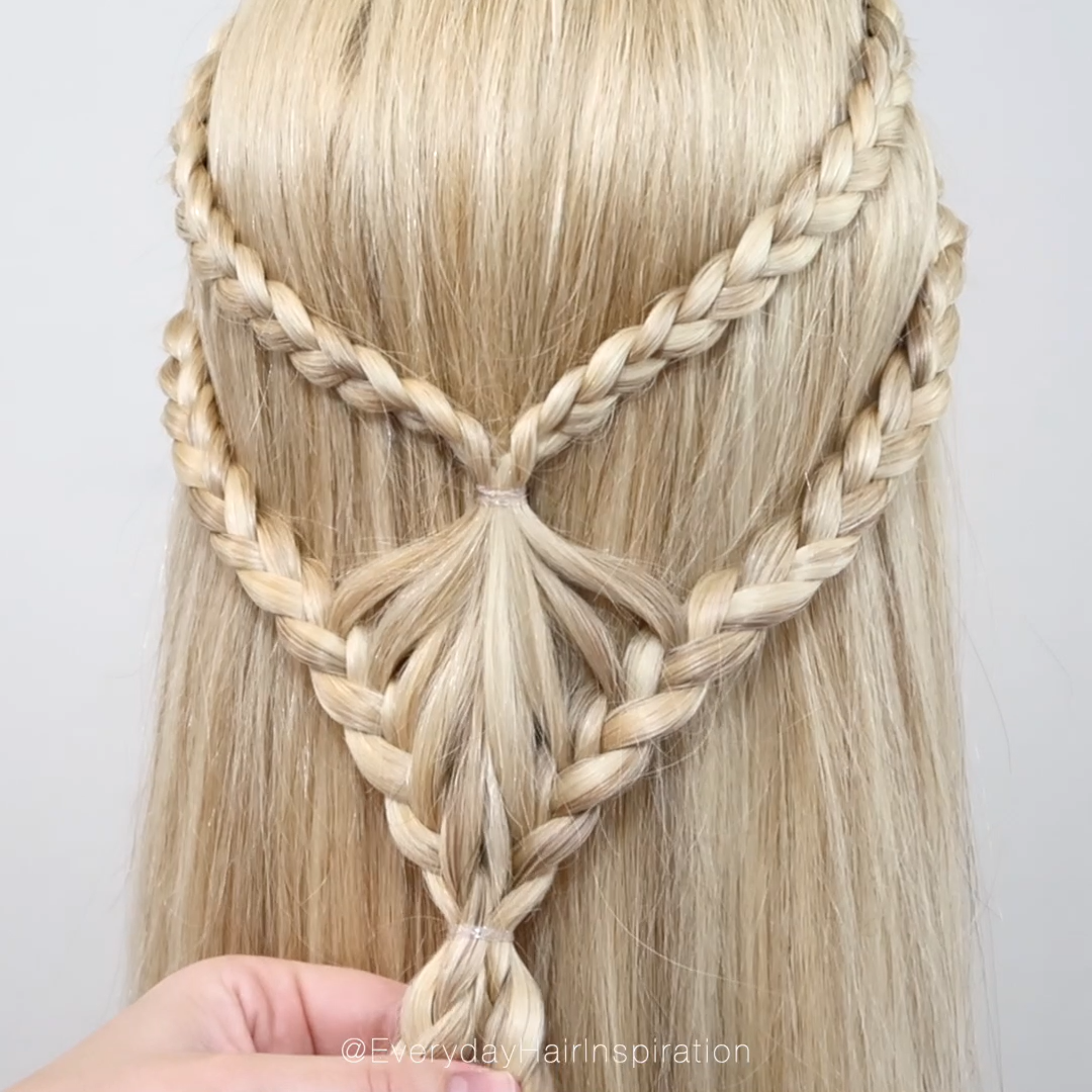 DIY Double braided half up half down hairstyle