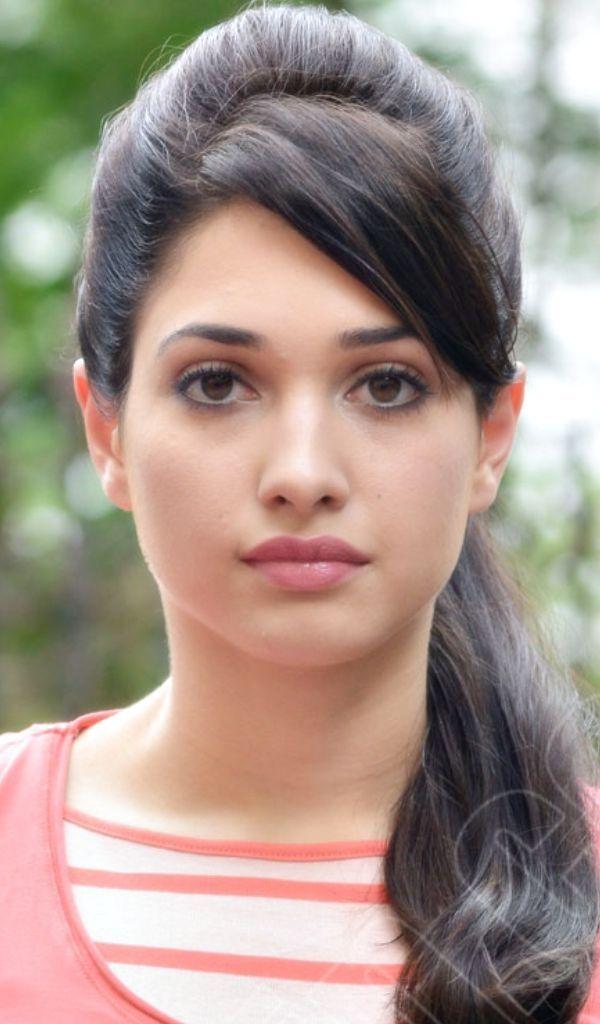 Tamanna Bhatia Hot Style Indian Hairstyles Hair Puff Beauty Girl