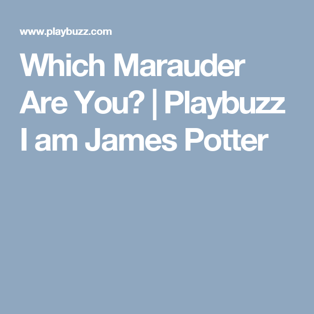 Which Marauder Are You? | Harry Potter | What kind of dog