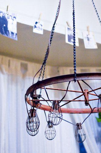 Diy industrial chandelier crafty pinterest diseo de lmparas diy industrial chandelier aloadofball Choice Image