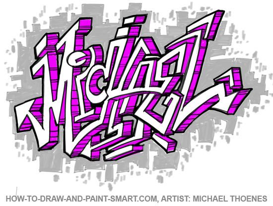 michael name coloring pages - photo#24