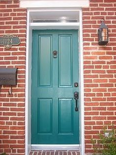 Front Door Colors With Red Brick House Google Search Shade Is Maybe A Bit Too Bold Exterior Door Colors Painted Front Doors Exterior Paint Colors For House
