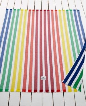"Lacoste Monaco Cotton Yarn-Dyed Stripe Beach Blanket NWT 60/""x 70/"" Authentic!!!"