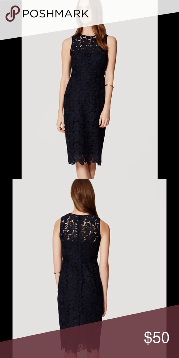 a83f931cc5 🎈🎊🍾HP everything plus size💓🎈🎉🎊🍾💓Ann Taylor Loft lace sheath dress  👗. Color Fresh Navy. NWT. No reasonable offer will be refused. Ann Taylor  ...