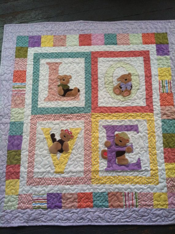 Love Baby Quilt on Etsy, $125.00