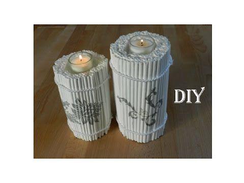 Diy kerzenständer aus zeitungspapier candle holder made out of