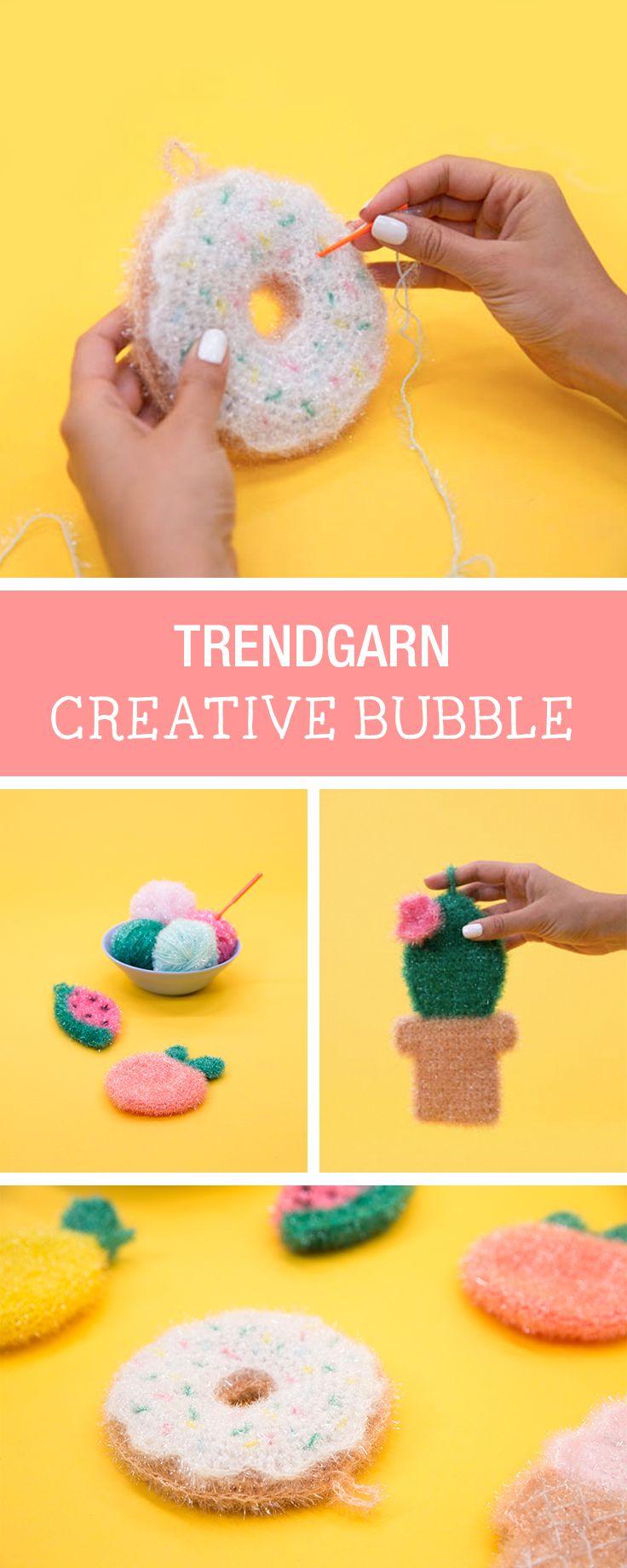 Häkelinspiration Schwämme Häkeln Mit Dem Creative Bubble Garn Von