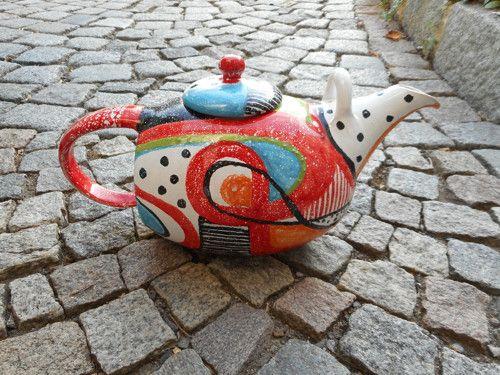 ....konvice na čaj - abstraktní..,