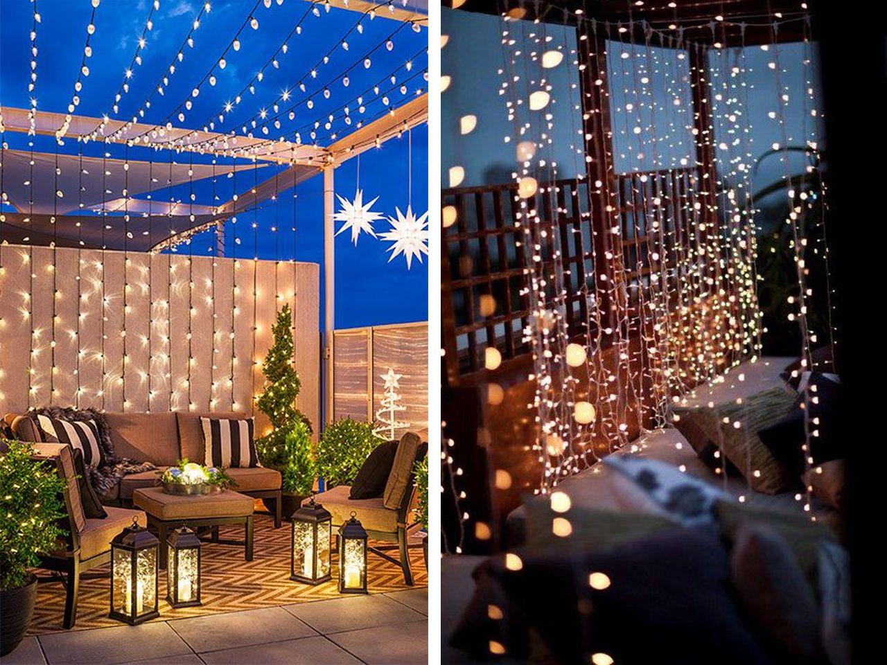 Decoracion Navidena Para Balcones Sacales El Maximo Partido Decoracion Con Luces Navidenas Decoracion Navidena Exterior Luces De Navidad Exteriores