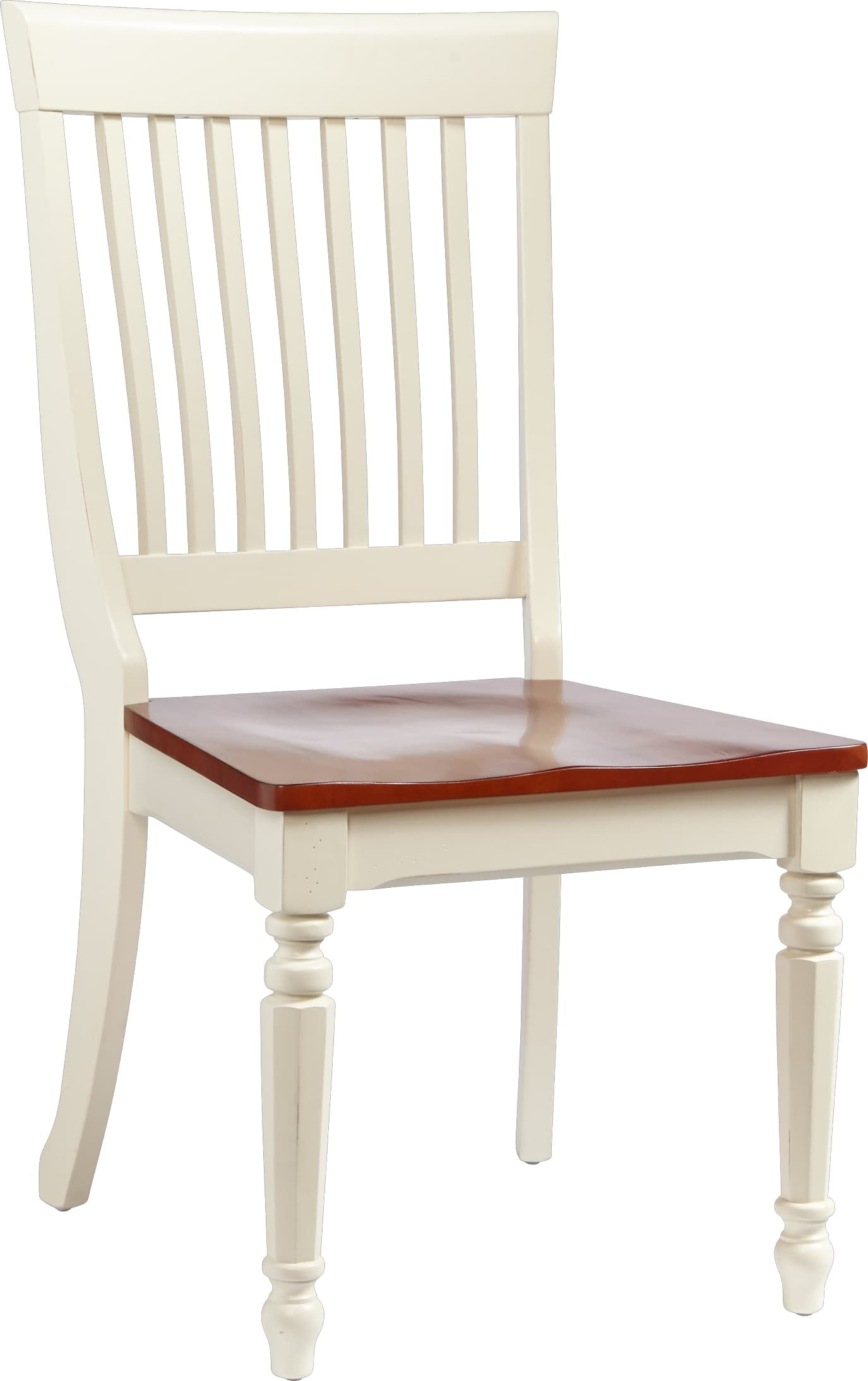 Cindy Crawford Home Ocean Grove White Wood Back Side Chair Side