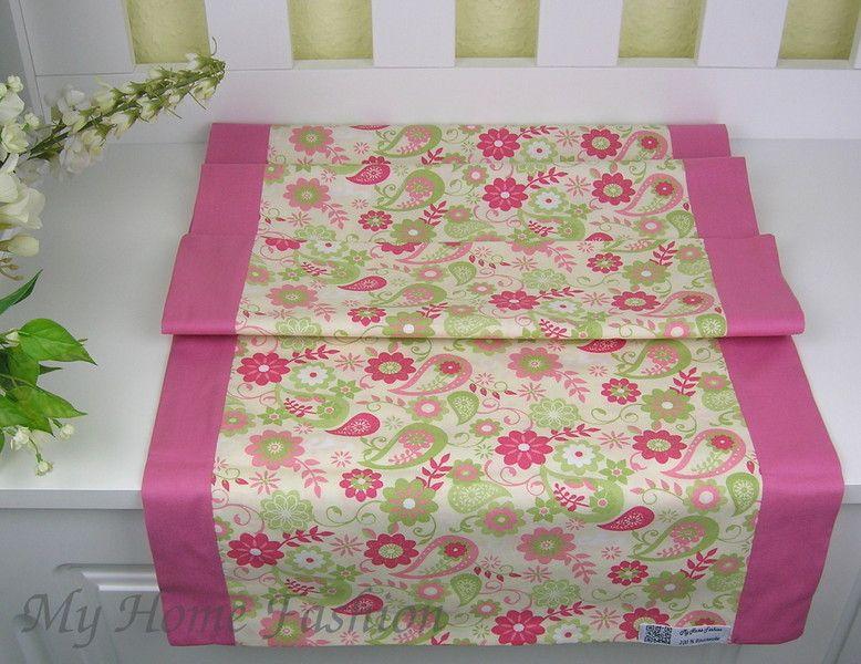 Tischläufer Blumen,Wendeläufer, Läufer Blumen rosa von My Home - läufer für küche