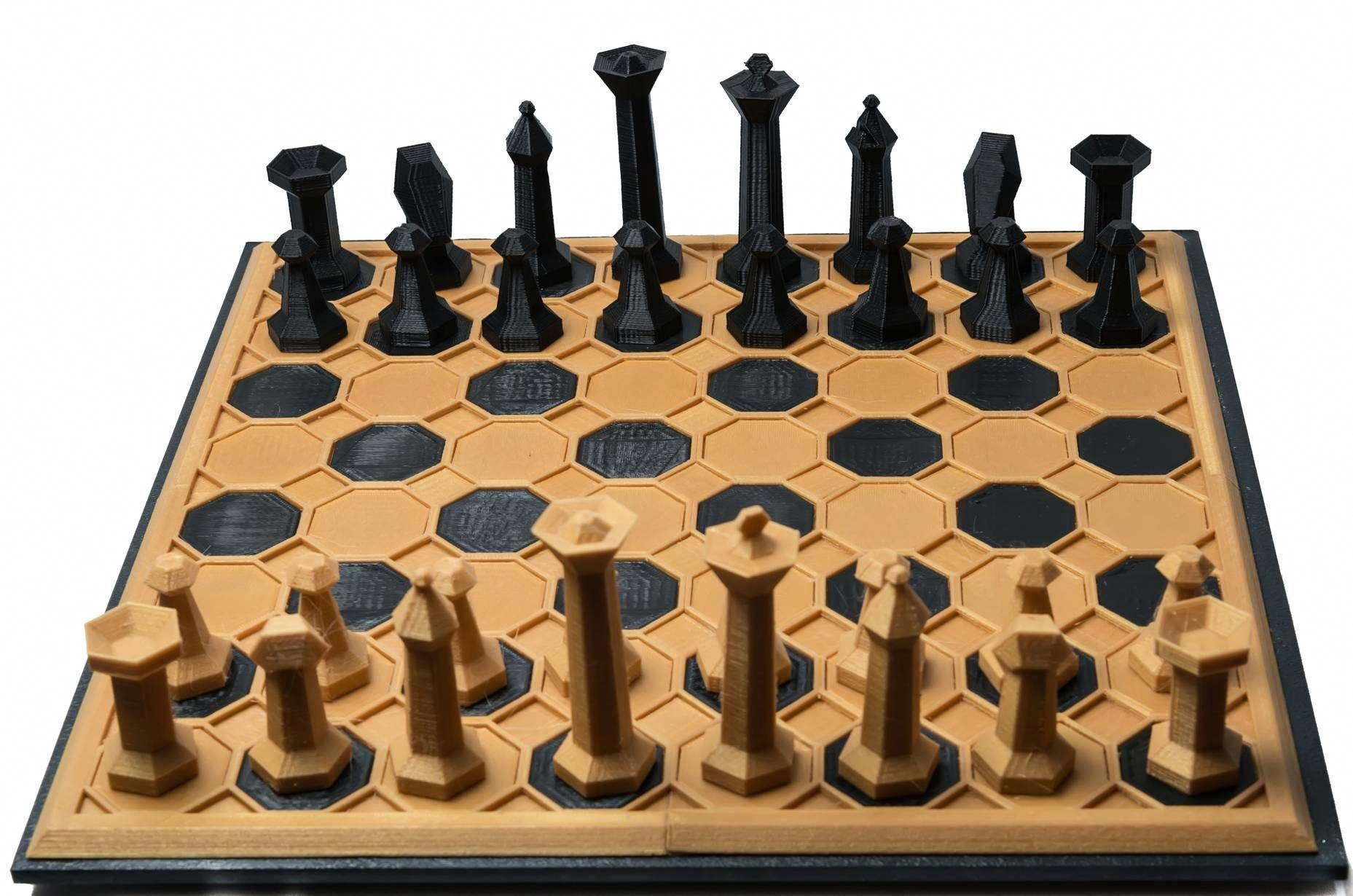 Chess Board 15x15 3D Printed Chess set AllThingsChess