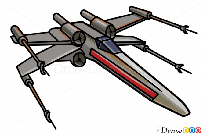 How To Draw X Wing Star Wars Spaceships Star Wars Drawings Star Wars Painting Star Wars Cartoon