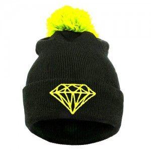 Diamond Czapka Beanie Krasnal Pompon Neo Zolta Clothes For Women Fashion Mens Outfits