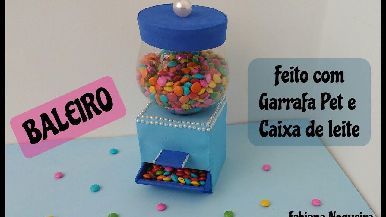 Baleiro De Garrafa Pet Faca Voce Mesmo Sua Candy Machine Sai