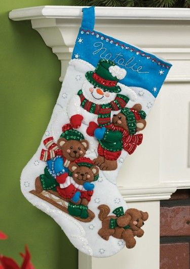 Fun in the Snow Bucilla Christmas Stocking Kit Christmas crafts