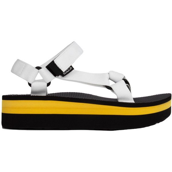 bf0a6d47cf3 Teva Women s Original Universal Flatform Sandals - White Yellow ( 35) ❤  liked on