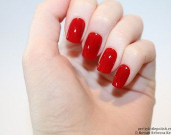 image result for short red nails  short square nails