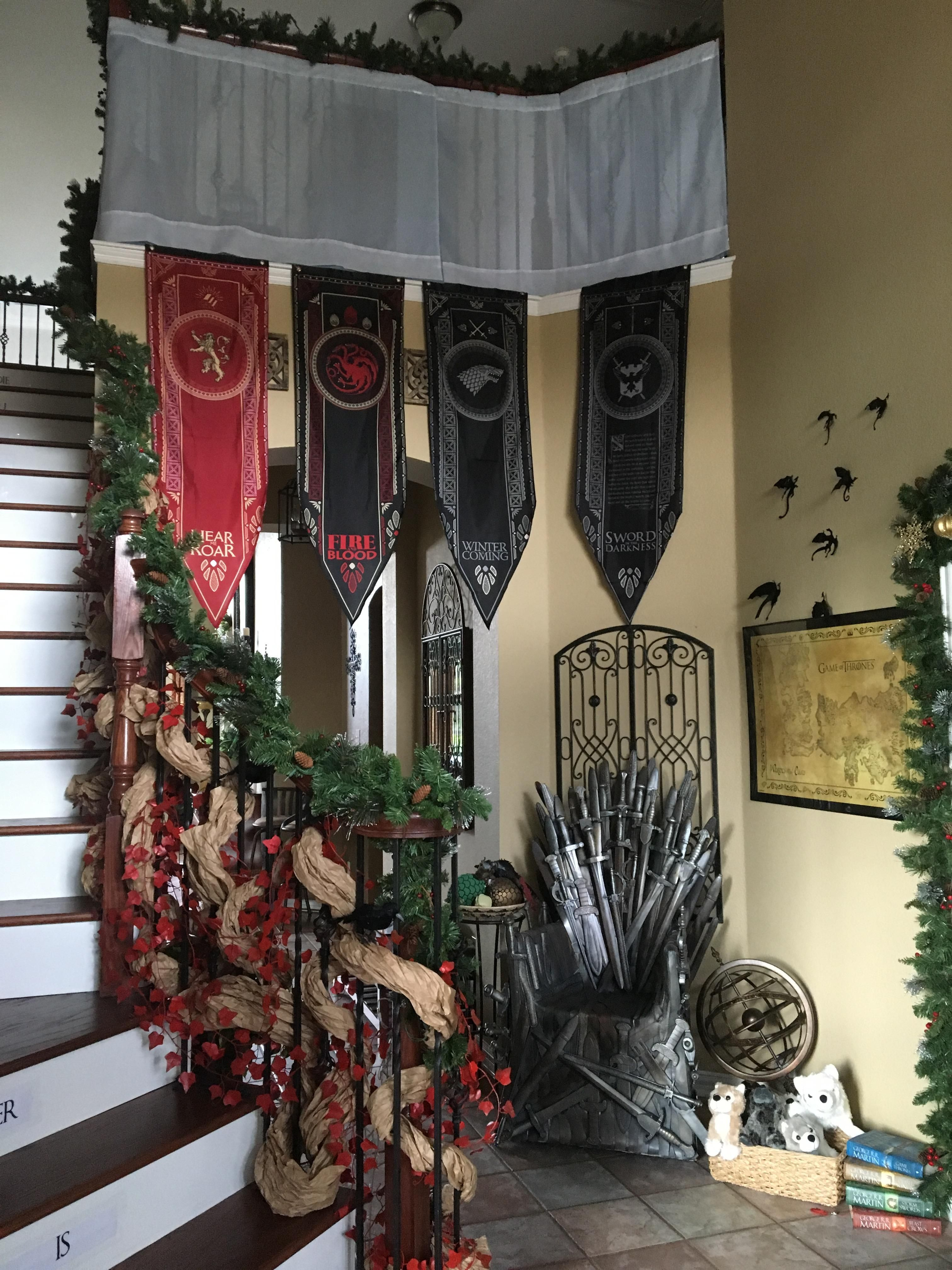 Every Year For The Holidays The House Gets A New Theme Until Spring. This Year, It's Game Of