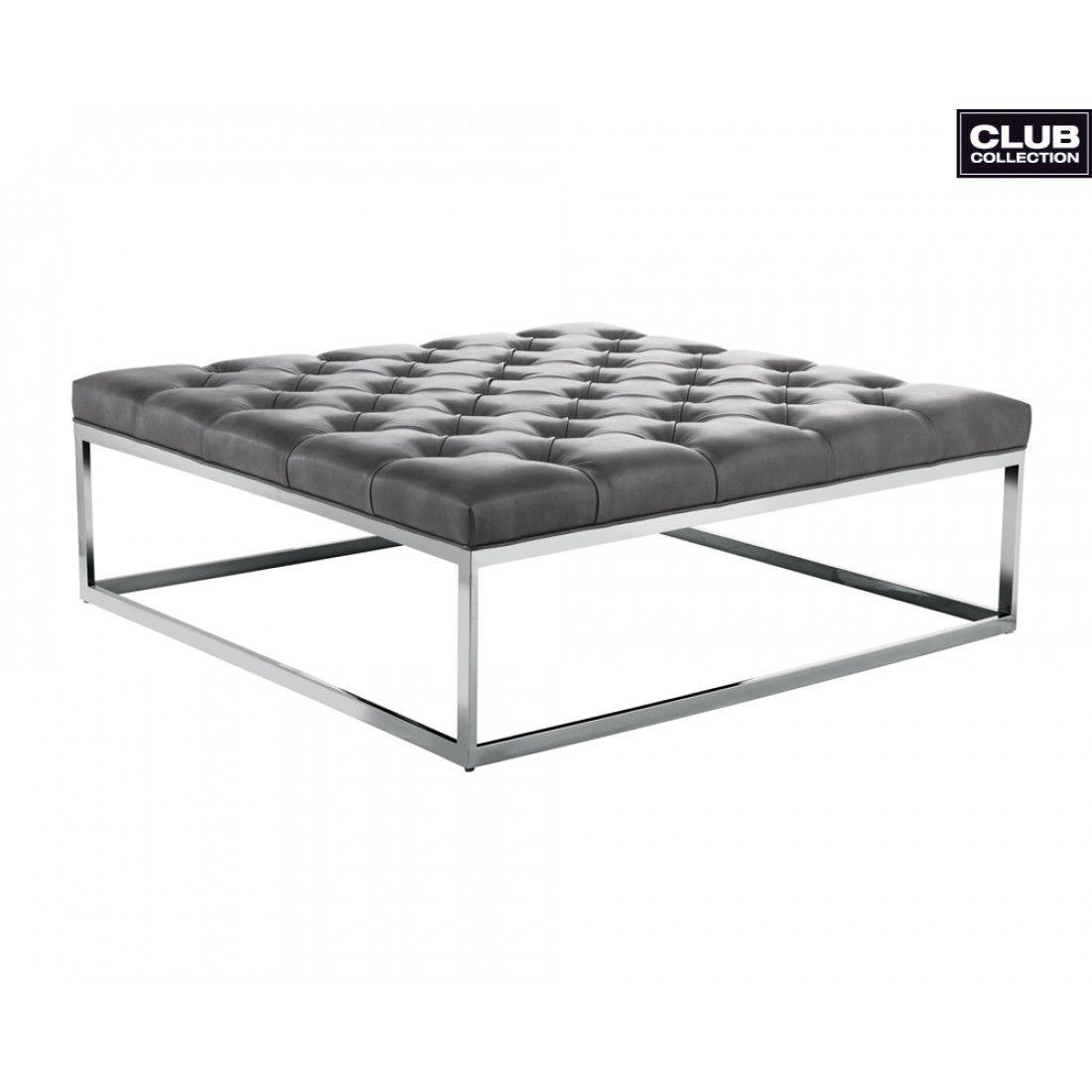 Fantastic Sutton Square Ottoman Large Grey Leather In 2019 Leather Frankydiablos Diy Chair Ideas Frankydiabloscom