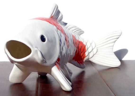 Large ceramic koi fish decorative figure home decor for Large coy fish