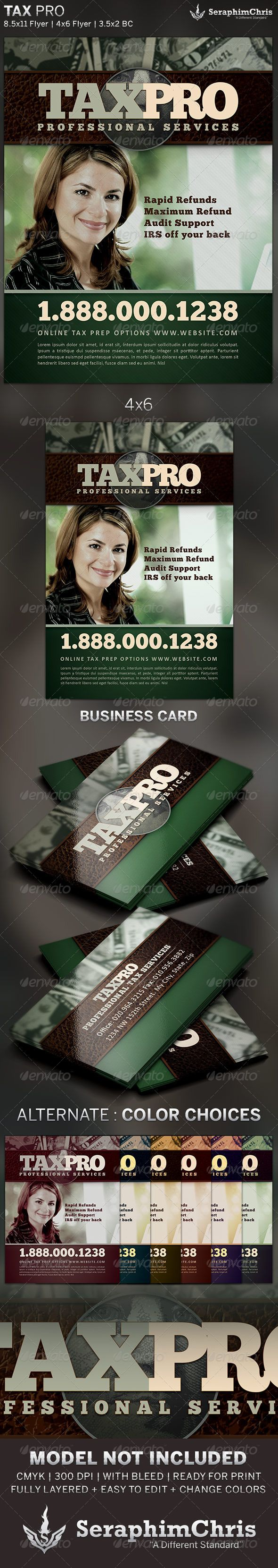 Tax pro flyer and business card template card templates tax pro flyer and business card template magicingreecefo Images