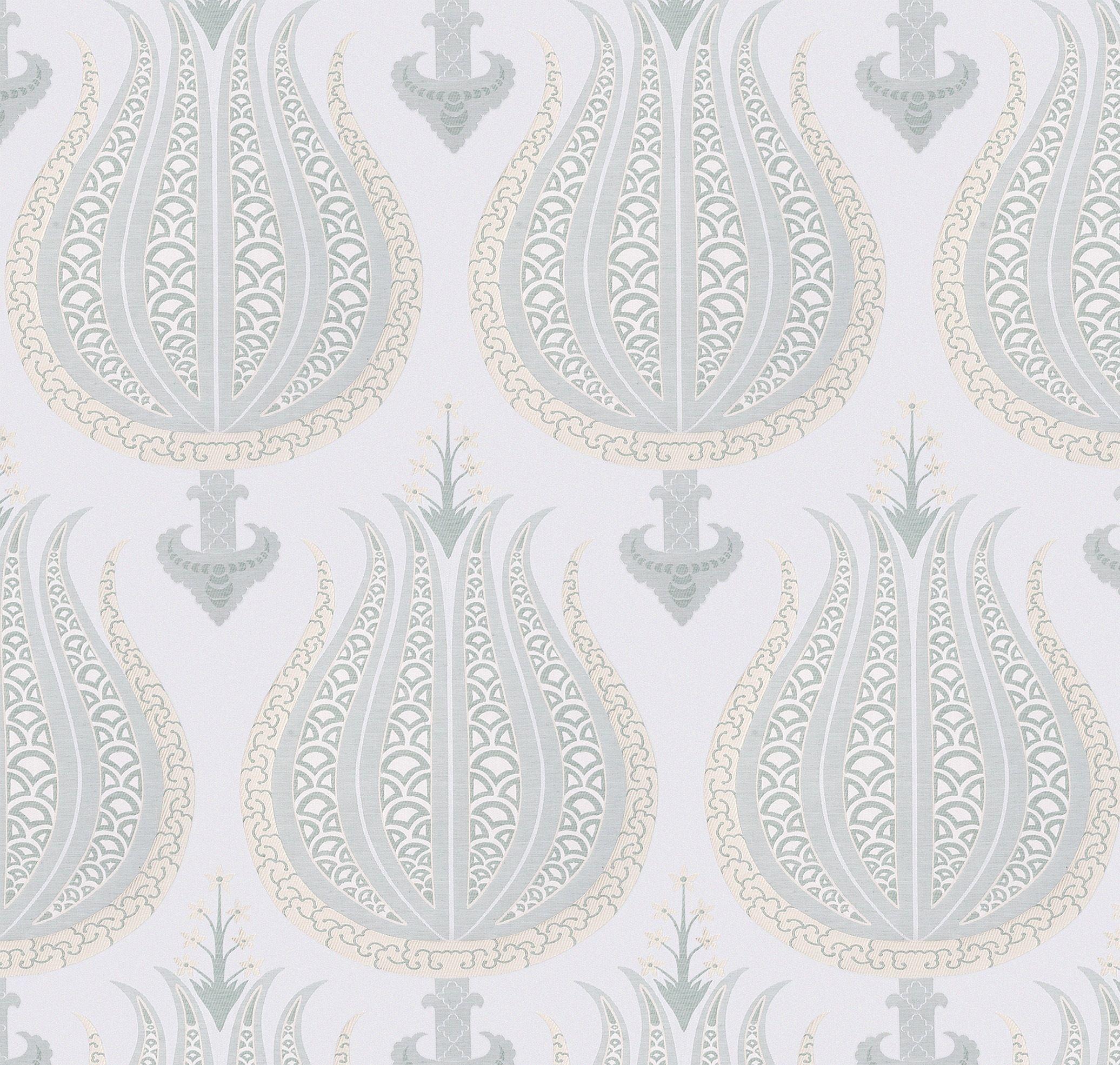 Aleria fabric in aqua. AnnaFrench Thibaut Anna