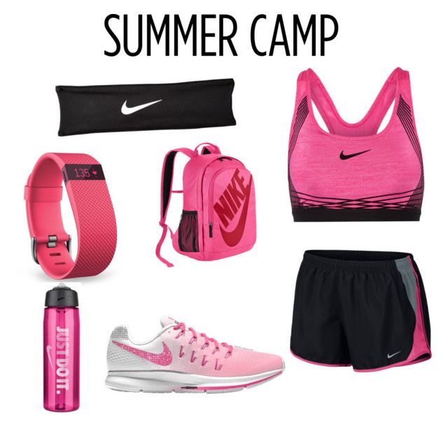 """""""Sports time! Campp😍"""" by tito888988 ❤ liked on Polyvore featuring NIKE, Fitbit, summercamp and 60secondstyle"""