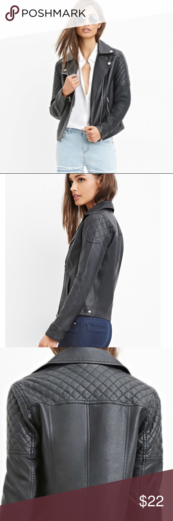 Forever 21 Faux Leather Moto Jacket in 2020 (With images