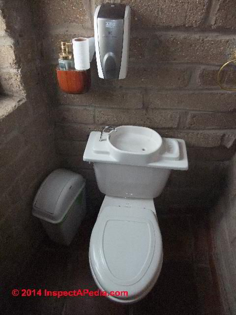 High Quality ZERO WATER U0026 Water Saving Toilets: Pictured Is The Tank Top Sink Design Inspirations