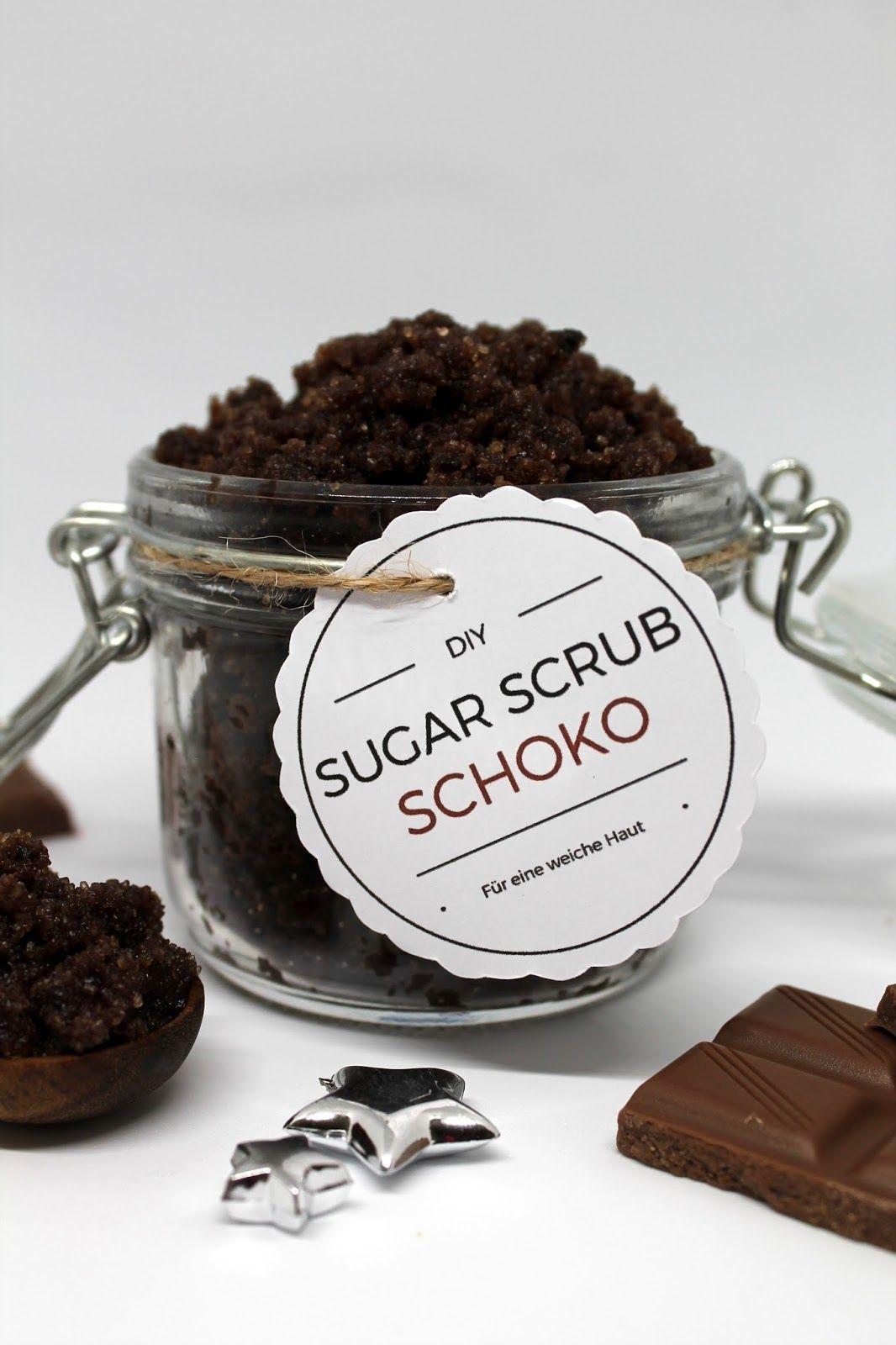 DIY Sugar Scrub Zuckerpeeling Schoko einfach selber machen #badekugelnselbermachen
