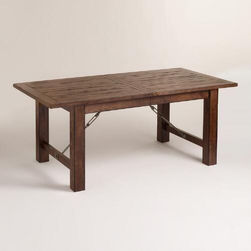 Wood Garner Extension Dining Table Rustic Dining Room Table Extension Dining Table Kitchen Table Settings