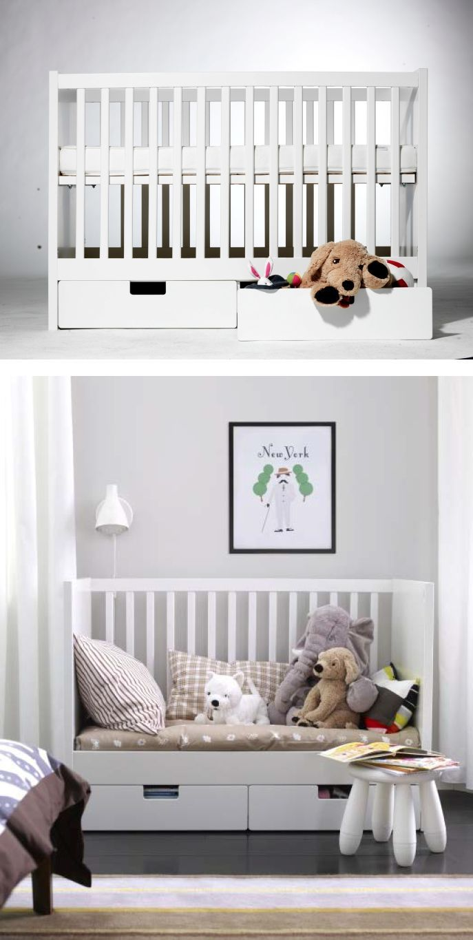 The STUVA Crib Converts To A Toddler Bed Making Transition From Baby Big Kid Smooth One For Parent And