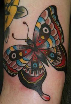 Neo Traditional Butterfly Tattoo Google Search Body Art