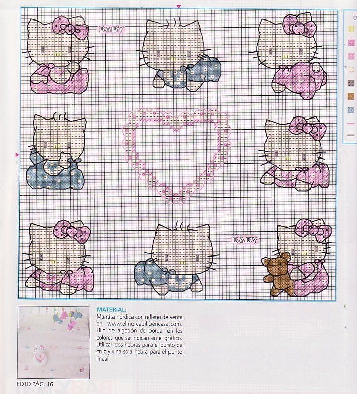 Punto Cruz Hello Kitty | Trini | Pinterest | Pilares