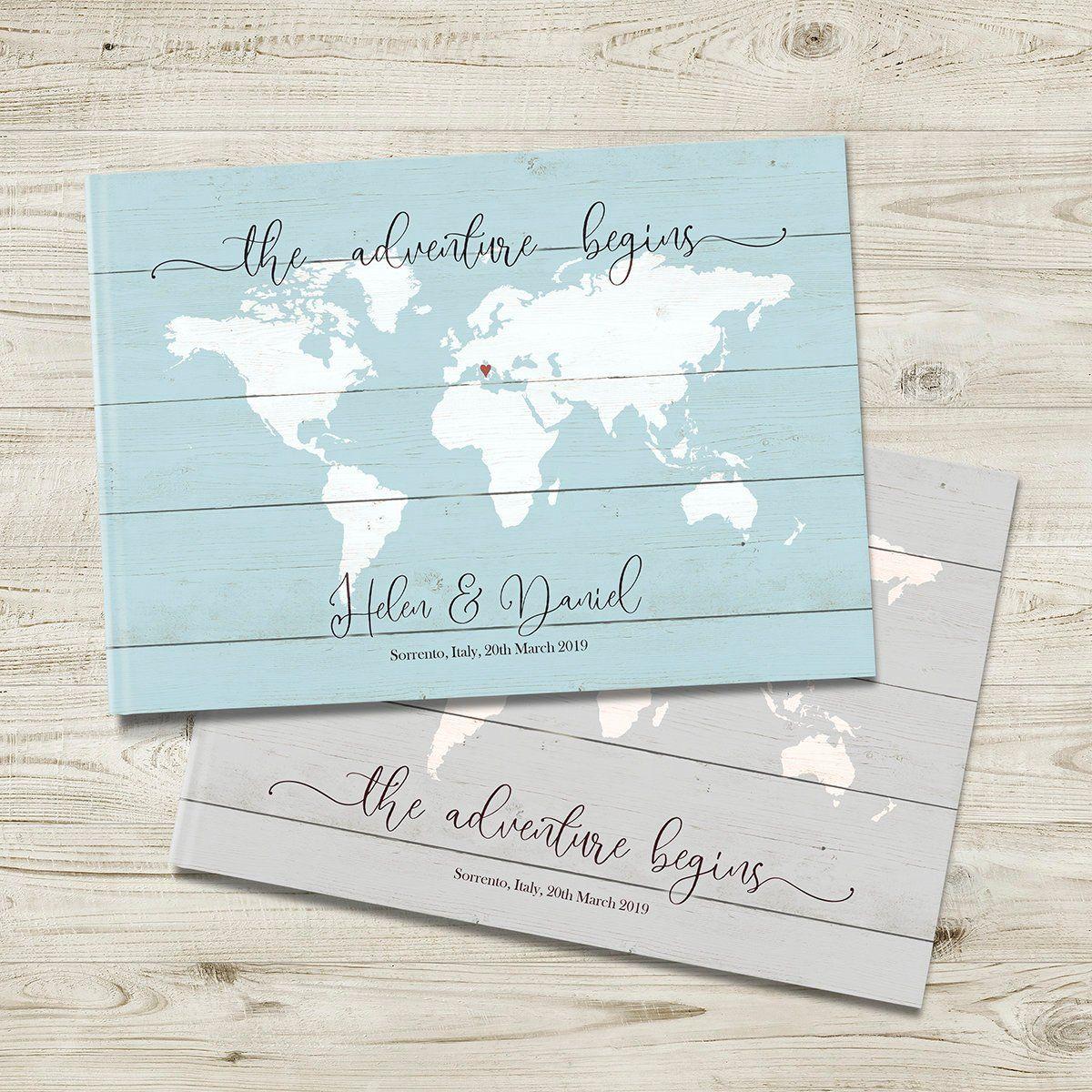 Travel Wedding Guestbook Travel Theme Journal Vintag