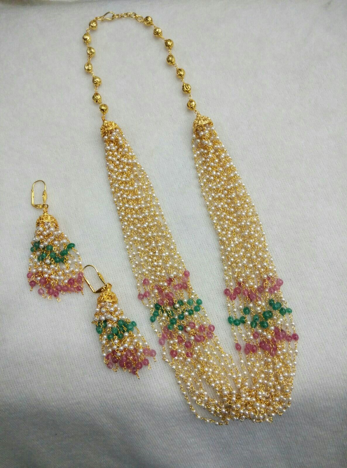 eb0464c8f2286 Multi coloured beads long haram   Jewllery in 2019   Multi strand ...