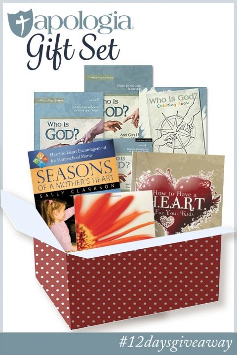 Apologia is absolutely one of my favorite homeschool companies. At the top of the list of reasons why is their incredible generosity. Wait until you see this prize pack valued at over $160 of curriculum and encouragement for homeschoolers!
