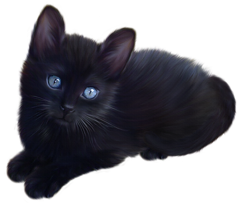 Black Cat Clipart Animated Pictures Cat Clipart Cats Animals